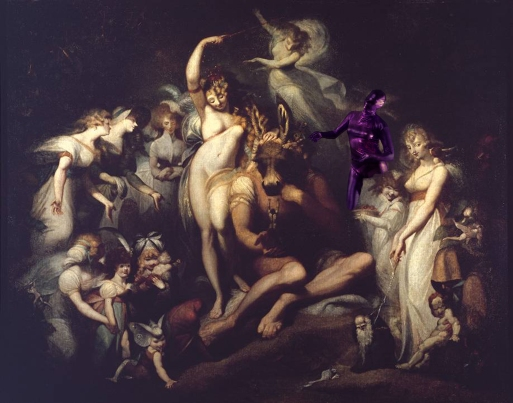 Titania and Bottom circa 1790 by Henry Fuseli 1741-1825